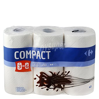 Carrefour Papel de cocina compact 3 rollos