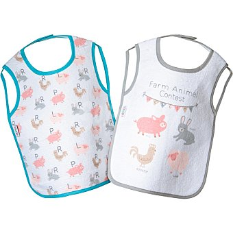 Dombi Set 2 baberos Farm Animals