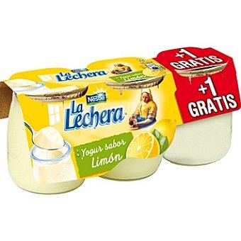 La Lechera Nestlé Yogur sabor limón pack 2 unidad 125 g + 1 gratis Pack 2 unidad 125 g