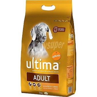 Ultima Affinity Alimento con pollo y arroz para perros Adult paquete 3 kg