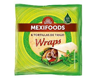 Mexifoods Tortillas de trigo wraps Paquete 370 g (6 uds)
