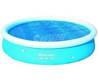 BESTWAY Cubierta solar para piscinas tubulares de 366 centímetros. Medida de la cubierta 350 centímetros. Usa la luz del sol para calentar el agua durante el día y mantiene la temperatura durante la noche y en los días nublados 1 unidad