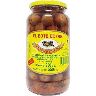 El Bote de Oro Aceitunas manzanilla moradas aliñadas con mojo canario frasco 550