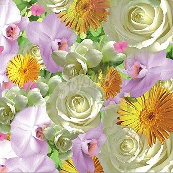 Papstar Servilletas decorado flores 33X33 cm Paquete 20 unidades