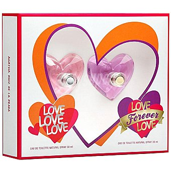 Ágatha Ruiz de la Prada Love Love Love eau de toilette natural femenina + Love Forever Love eau de toilette femenina natural spray 30 ml