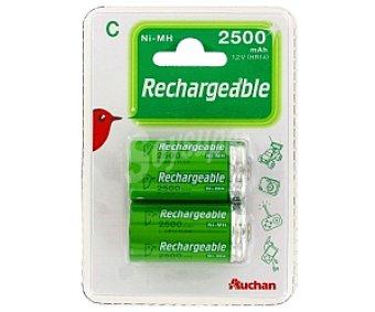 Auchan Pilas recargables C HR14, ni-mh 2500 mah 2 unidades