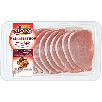 ElPozo Extratiernos escalopín de lomo de cerdo fresco filetes finos sin gluten Bandeja 300 g