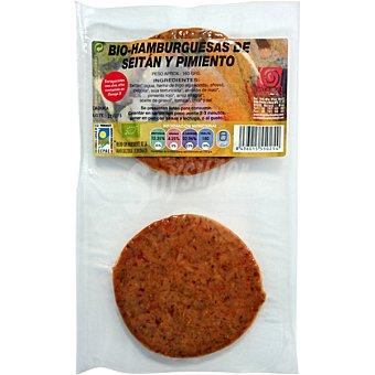 BIOSISEA Haburguesas de sietán y pimiento Paquete 180 g