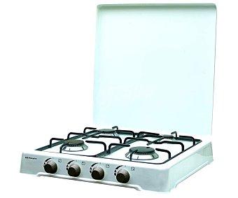 Orbegozo Cocina sobremesa a gas butano o gas propano FO4550, 4 zonas de cocción, 750W/1400W/1400W/1900W 4 zonas de cocción, 750W/1400W/1400W/1900W