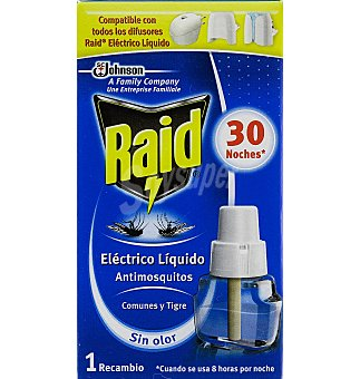 Raid Insecticida eléctrico recambio 30 noches 1 UN