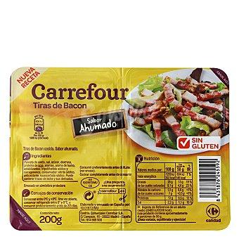 Carrefour Tiras de bacon sabor ahumado sin gluten Pack de 2 unidades de 100 g