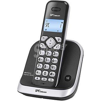 SPC TELECOM Teléfono inalámbrico  7261N DECT Digital con manos libres en color negro y plata 1 Unidad