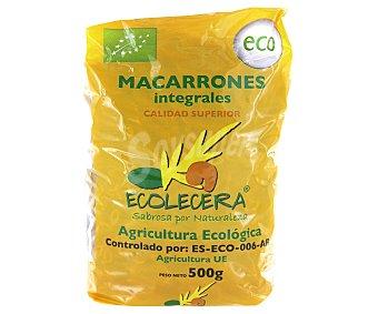 Ecolecera Macarrones ecológicos, pasta compuesta integral de calidad superior 500 Gramos