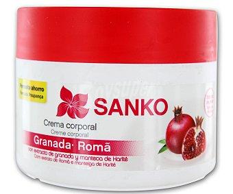 SANKO Crema corporal con extracto de granada y manteca de karité 300 mililitros