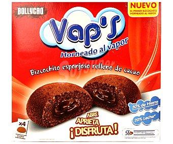 Panrico Vap's bizcochitos de chocolate rellenos de cacao horneados al vapor  4 unidades (140 g)