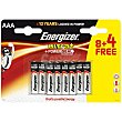 Pila Max +power AAA (lr3) Blister 8 unidades Energizer