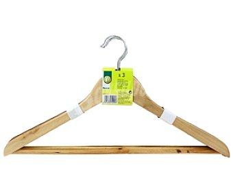 Productos Económicos Alcampo Perchas de madera 3 Unidades