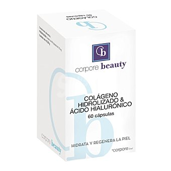 Corpore Beauty Colágeno hidrolizado y ácido hialurónico 60 ud