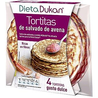 Dieta Dunkan Tortitas de salvado de avena ricas en fibra gusto dulce envase 280