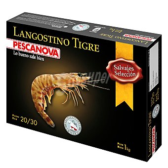 Pescanova Langostino tigre crudo 1 kg