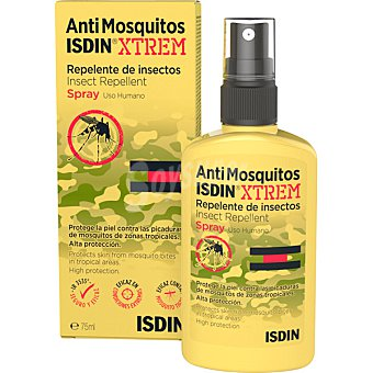 Isdin AntiMosquitos XTREM 30% repelente de insectos spray 75 ml protege en condiciones extremas y zonas tropicales spray 75 ml
