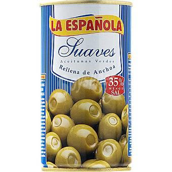 LA ESPAÑOLA Aceitunas suaves rellenas de anchoa Lata 150 g neto escurrido