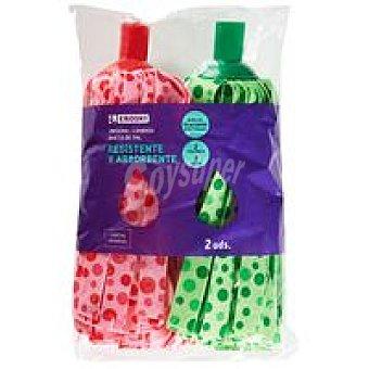 Eroski Recambio de fregona de colores Pack 2 unid