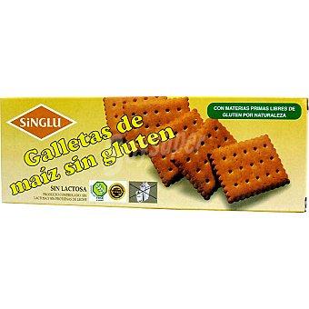 SINGLU Galletas de maíz cuadradas sin gluten sin lactosa Estuche 170 g