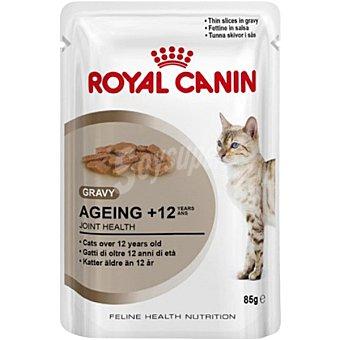 ROYAL CANIN AGEING Alimento completo en forma de filetitos tiernos en salsa para gatos mayores de 12 años bolsa 85 g Bolsa 85 g