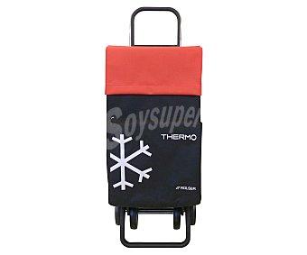 ROLSER Carrito para la compra plegable modelo Termo Fresh, de color negro y rojo y con 4 Ruedas 1 Unidad