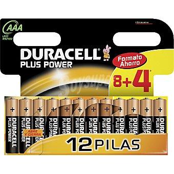 Duracell Pila alcalina AAA(lr03 mn2400) 1,5 voltios blister + 4 gratis 8 unidades