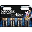 Pila alcalina AA (lr6 - mx1500) 1,5 voltios blister 8 unidades 8 unidades DURACELL Ultra Power
