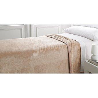 CASACTUAL Raschel manta lisa en color beige