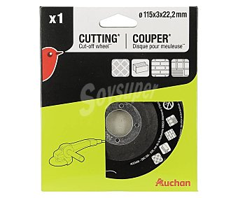 Auchan Disco corte metal 115 MM X 3mm