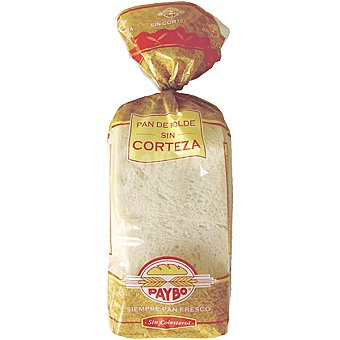 Paybo pan de molde sin corteza 390 g