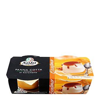 Solo Italia Panna cotta caramelo Pack de 2x120 g