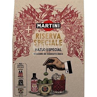 Martini Vermouth reserva especial Estuche 2 botellas 5 cl + La Cala aceitunas rellenas de anchoa + cuenco Frasco 140 g escurrido
