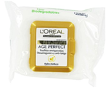 Age Perfect L'Oréal Paris Toallitas Desmaquilladoras AGE perfect de L´ 20u
