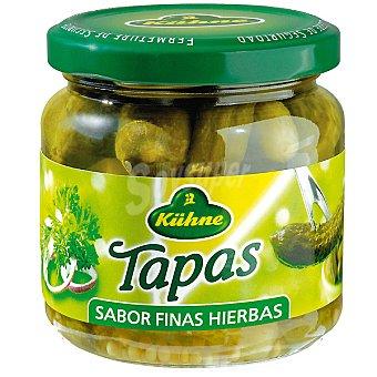 Kühne Pepinillos sabor finas hierbas Tapas Frasco 125 g neto escurrido