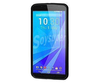 MUVIT Carcasa trasera Minigel, negra, para Nexus 6. (telefono no incluido)
