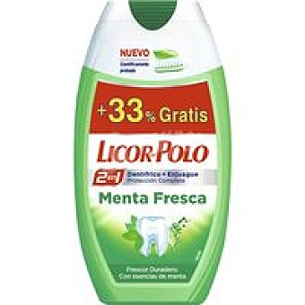 Licor del Polo Dentífrico 2en1 menta fresca Tubo 75+25 ml
