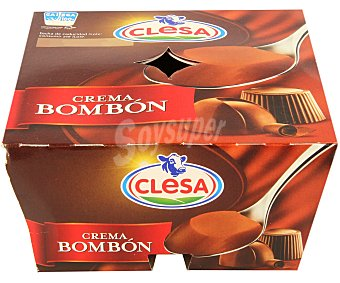 CLESA Postre lácteo con sabor a cacao 4 unidades de 125 g