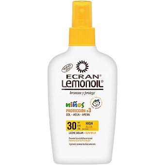 Ecran Lemonoil Broncea y protege leche solar niños protección x 3 sol agua y arena FP-30 spray 200 ml Spray 200 ml