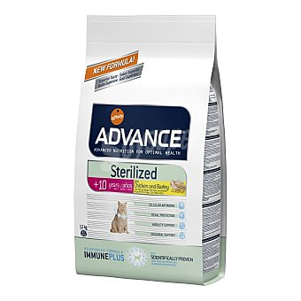 Advance Pienso para gatos senior esterilizados Advance Sterilized +10 pollo 1,5 Kg