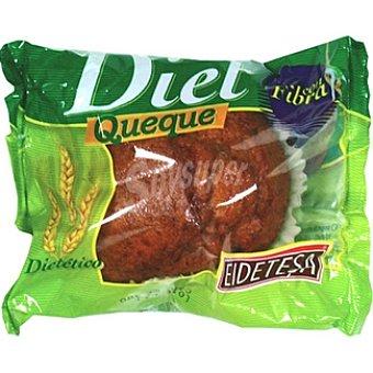 EIDETESA queque integral paquete 170 g pack 2 unidades