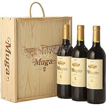 Muga Vino tinto crianza D.O. Rioja estuche de madera 3 botellas 75 cl