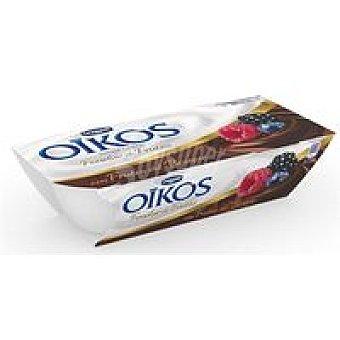 Oikos Danone Yogur Griego fondue de frutas con frutos del bosque 2x115g