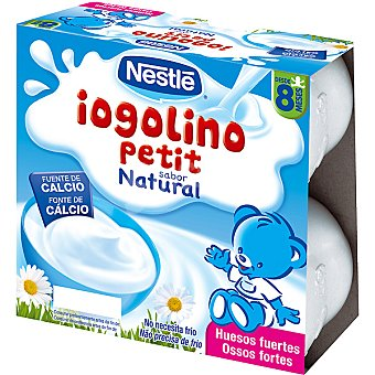 Iogolino Nestlé postre lácteo sabor natural x100 estuche 400 g pack 4
