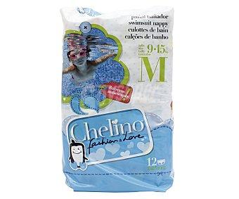 Chelino Pañales bañador talla 4, para niños de 9 a 15 kilogramos
