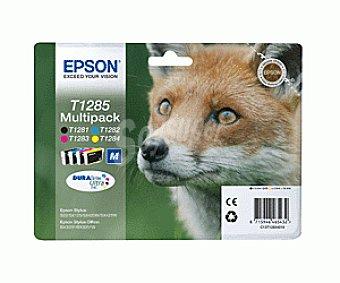 Epson Multipack 4 Colores T1285 - Compatible con Impresoras: stylus / S22 / SX125 / SX420W / SX425W / office BX305 SX / 130